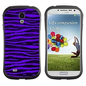 Paccase / Suave TPU GEL Caso Carcasa de Protección Funda para - Purple Zebra Stripes Black Vibrant - Samsung Galaxy S4 I9500