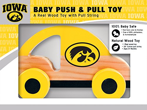 (MasterPieces NCAA Iowa Hawkeyes Push & Pull Toy)