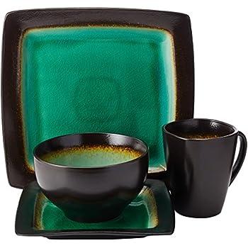 Amazon.com | Baum Galaxy Jade 16-pc. Dinnerware Set: Dinnerware Sets
