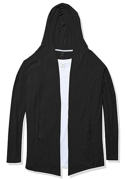 Amazon.com: oxfly hombre Hip Hop con capucha chaqueta de ...