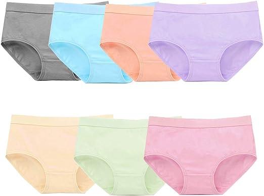 Nightaste Women//Big Girls Cotton Briefs Panties Assorted 10-Pack Mid-Rise Hipster Underwear for Teenager Girl