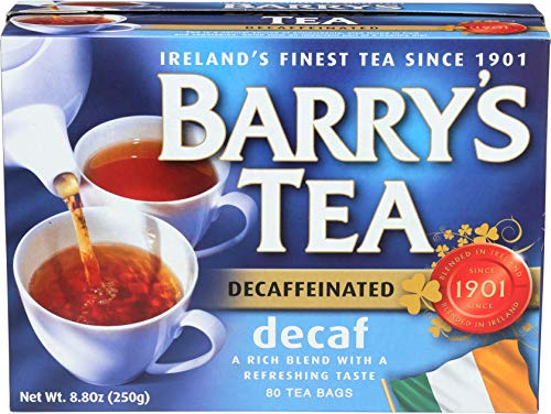 Decaffeinated Irish Tea - Barry's Tea, Decaffeinated Blend, 80-Count (Pack of 6)