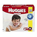 Huggies Snug and Dry Diapers, Size 4, Economy Plus Pack, 192 Count by Huggies