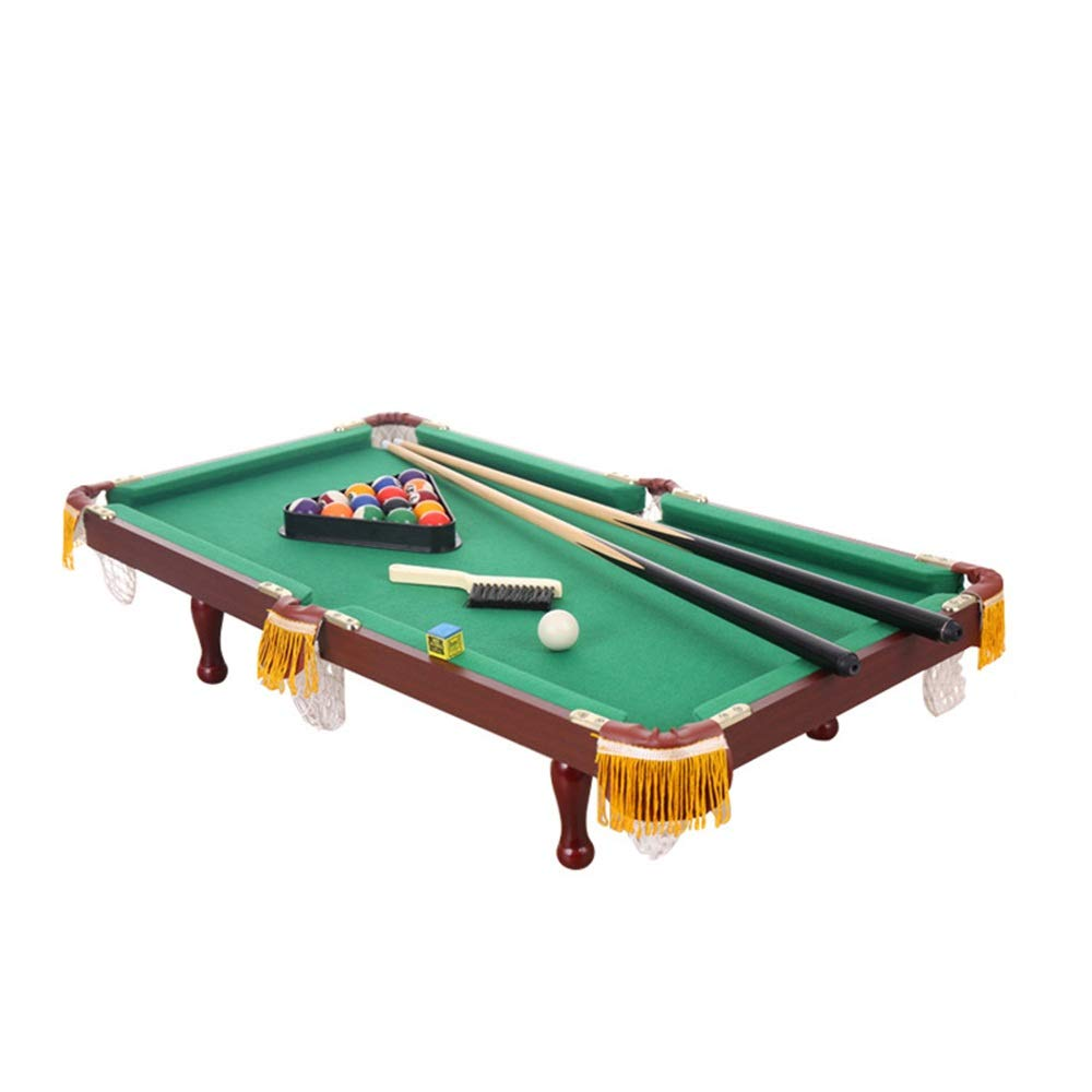 TAESOUW-Sports Mini Pool Table for Kids Complete Small Pool Table Set for Children - Great Gift Idea for Boys and Girls (Color : Green, Size : 90x52cm) by TAESOUW-Sports