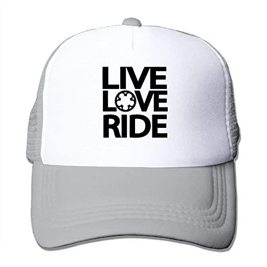 ae7a01170a7 Live Love Ride Adjustable Sports Mesh Baseball Caps Trucker Cap Sun ...