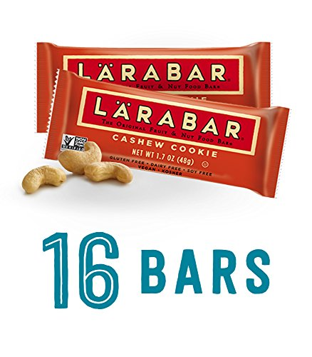 LARABAR, Fruit & Nut Bar, Cashew Cookie, Gluten Free, Vegan, Whole 30 Compliant, 1.7 oz Bars (16 Count) by LÄRABAR