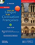 G Mauger Blue Cours de Langue et de Civilization Francaise 2 with Cd (lecon 15-25)