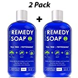 Product review for Remedy Antifungal Soap Pack of 2, Helps Wash Away Body Odor, Athlete's Foot, Nail Fungus, Ringworm, Jock Itch, Yeast Infections & Skin Irritations. 100% Natural with Tea Tree Oil, Mint & Aloe 12 oz