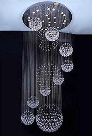 Siljoy 315d x 866h with 13 lights luxury clear crystal spiral siljoy 315quotd x 866quoth with 13 lights luxury clear crystal spiral sphere chandelier aloadofball Choice Image