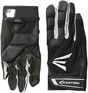 Easton Youth HS3 Batting Gloves, Black, Large