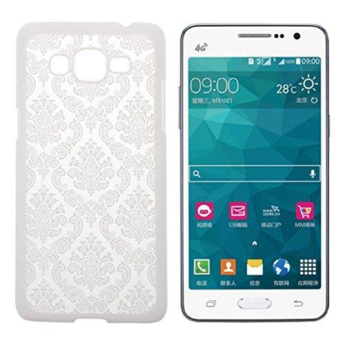 Carcasa de telefono - SODIAL(R)Para Samsung Galaxy Grand Prime G530H G5308 Carcasa y funda vendimia damasco dificil cubierta de la caja (Verde) Blanco