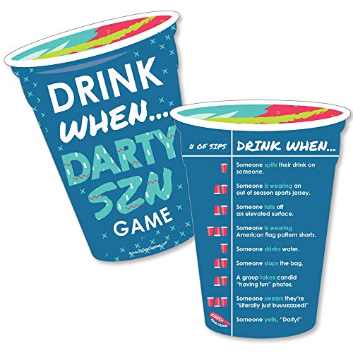 Darty SZN - Drink When Party Game Cards - Drinking Game - 20 Cards by Big Dot of Happiness