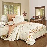 King/Queen 100%Cotton Bed Quilt Cover Single Double Duvet Cover(Only Include Quilt Cover), Single Cotton Quilt Cover,Dance With The Wind,160×210cm