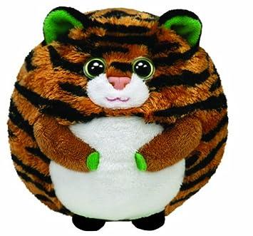 TY 38018 Monaco Ball - Pelota de tigre de peluche (12 cm)