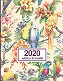 2020 Weekly Planner: January 2020 to December 2020 Weekly and Monthly Planner with One Year Daily Agenda Calendar, 12 Month Jungle Parrots Floral ... Quotes, Holidays, Notes & Vision Board
