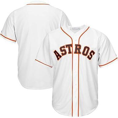 Camiseta de béisbol para Hombre Houston Astros Camisetas para Hombre, Camisas de Entrenamiento Unisex Malla de Secado rápido Fans largas Sudadera Manga Corta Multicolor, White-M: Amazon.es: Ropa y accesorios