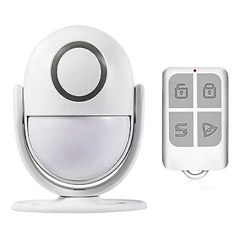 wenichen inalámbrico interior PIR Detector de movimiento de alarma con mando a distancia, alarma o