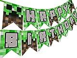 Minecraft Party Decorations Happy Birthday Banner