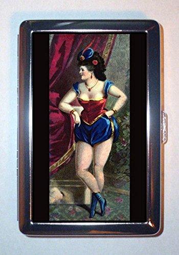 Burlesque Circus - Victorian Sexy Burlesque Showgirl Circus Legs ID Wallet or Cigarette Case USA Made