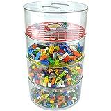 "BLOKPOD • Storage Bins for Crafts, Toys & Lego • Multipurpose Stackable Plastic Bin Parts Organizer • Large Capacity: 17""x10""x10"" • Transparent Box • 15 YEAR WARRANTY"