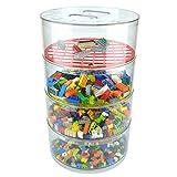 "BLOKPOD Toy & Lego Storage Bin Organizer • Multipurpose Stackable Storage Solution • Large Capacity: 17""x10""x10"" • Transparent Box • 15 YEAR WARRANTY • 4 Tier"