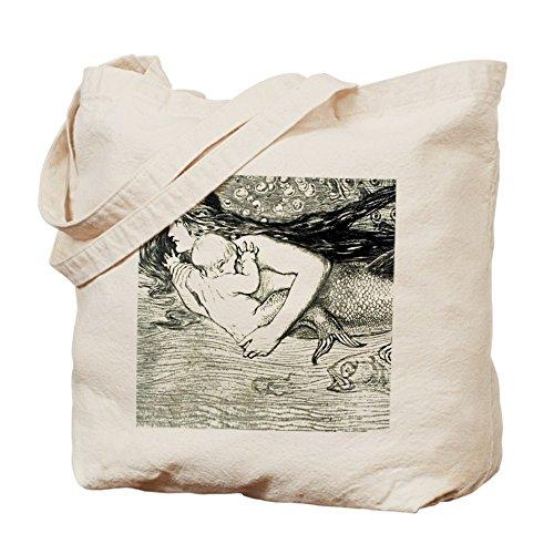 CafePress–Amelia Bauerle sirena–Gamuza de bolsa de lona bolsa, bolsa de la compra