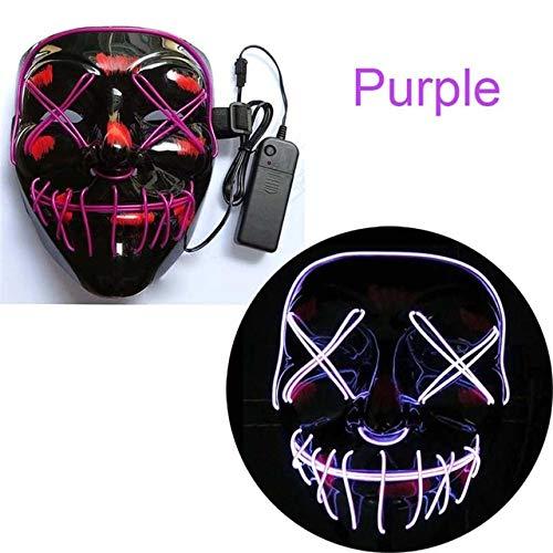 Máscara de Halloween LED Maske Light Up Party Masks Neon ...