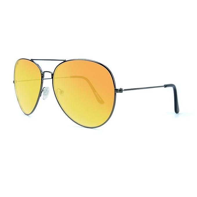 Knockaround Gafas de sol polarizadas de milla máximos Xl (Gunmetal / Sunset)