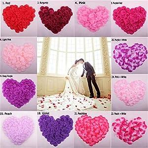Fashion 1000pcs Artificial Rose Flower Petals Silk Petalos De Rosa De Boda Wedding Party Crafts Festive Decoration Supplies 37
