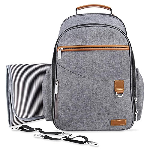 Boy Diaper Bag Backpack Unisex,Wide Open Designer Travel Baby Nappy Bags with Changing Pad Insulated Pocket for Women and Men ()