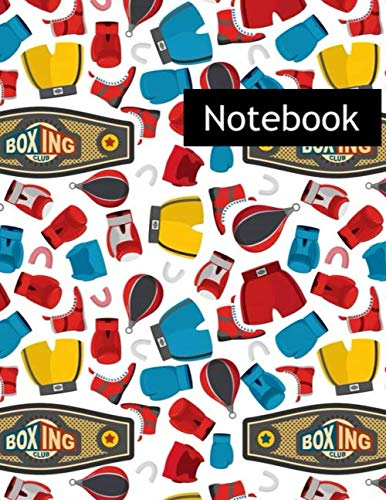 Boxing Sports Boxing Equipment Gloves Helmet : College Ruled Notebook & 2020 Planner: Lined notebook Gift, 120 Pages, 8.5x11, Soft Cover, Matte Finish