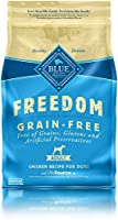 BLUE Freedom is a delicious, 100% grain-free formula that contains no gluten. All Freedom recipes feature high-quality real meat with no chicken (or poultry) by-product meals. Set your dog free from grains with this tasty, satisfying diet. BL...