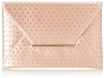 BCBG Harlow Envelope w/Hot Fix Rhinestones Evening Bag,Bare Pink,One Size