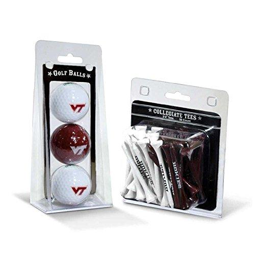 - Team Golf NCAA Virginia Tech Hokies Logo Imprinted Golf Balls (3 Count) & 2-3/4