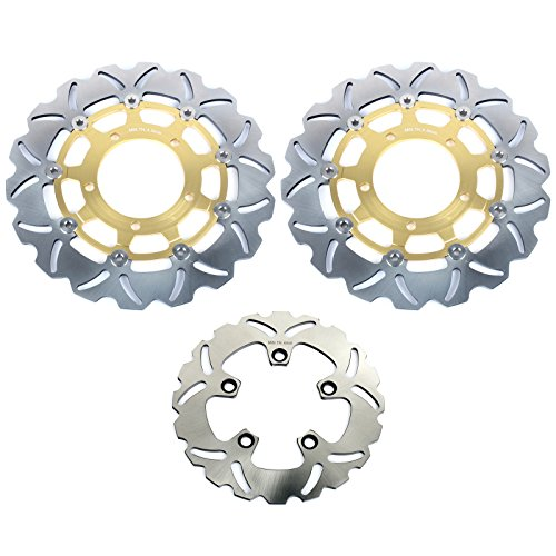 TARAZON Full Set Brake Rotors Discs for Suzuki GSXR 600 GSXR 750 2006 2007 GSX-R 1000 05 08 ()