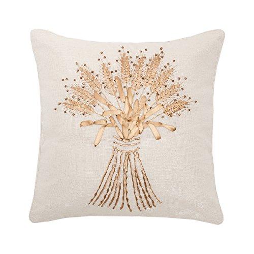 C&F Home Wheat Sheath Ribbon Art Pillow 16 x 16 ()