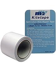 M2 Kitetape - zelfklevende spinnaker reparatietape voor dunne spinnakers zeilen textiel tape - Nylon 5cm x 4,5 meter - wit wit