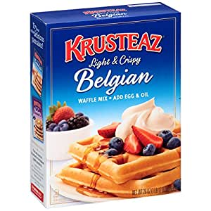Krusteaz Light & Crispy Belgian Waffle Mix, 28 Ounce ( Pack of 4 )