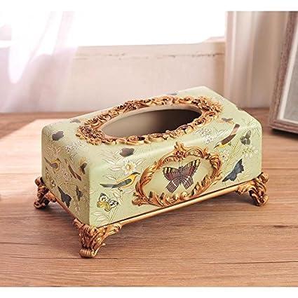 HGTYU-Resina pintada caja de toallas de papel Home Furnishing Salón papel toalla Cuadro Cuadro