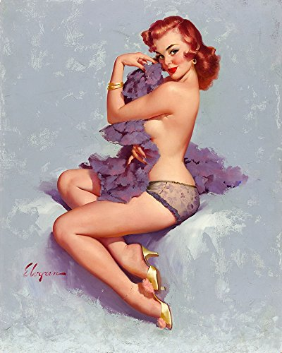 Berkin Arts Gil Elvgren Giclee Canvas Print Paintings Poster Reproduction(Pin up Girls 105) -