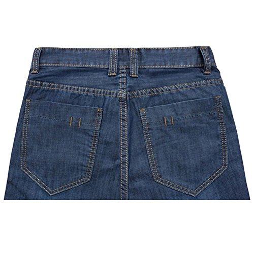 West See Herren Jeans Shorts Bermuda Demin Straight Fit Sommerhose Stretch Slim Knielang Jogger Shorts Sommer Kurze Hose Blau
