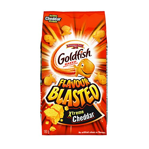 - Pepperidge Farm Goldfish Flavour Blasted Extreme Cheddar, 180g/6.34 Ounces {Imported from Canada}