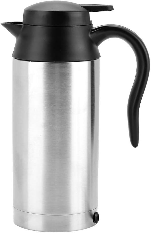 Tonysa Hervidor de Agua de Coche de 24 V, hervidor de Agua portátil de 750 ml para Viaje, hervidor de Agua para camión con Enchufe para Encendedor de Cigarrillos para Beber té y café …