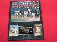 1971 Pirates World Series Champions 2 Card Collector Plaque w/ 8x10 Celebration Photo