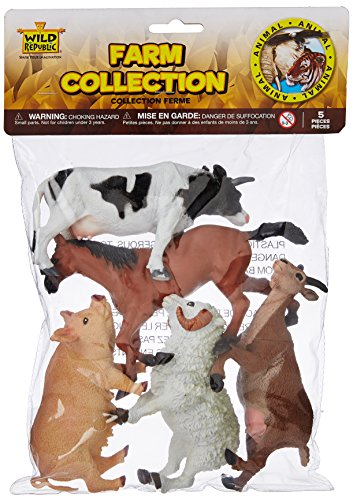 - Wild Republic Polybag, Animal Figures, Kids Gifts, Farm Party Supplies, 5Piece Collection