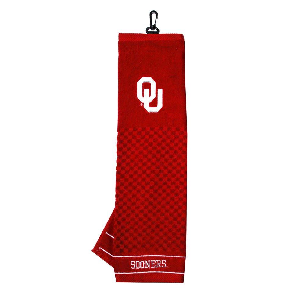 Oklahoma Sooners刺繍タオルチームゴルフから  オクラホマスーナーズ B017NP6CMY