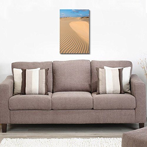 Beautiful Scenery Landscape Waves on Sand Dunes in The Desert Wall Decor