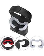 Esimen VR Face Silicone Cover Mask & Face Pad for Oculus Rift S Face Cushion Cover Sweatproof (Gray)