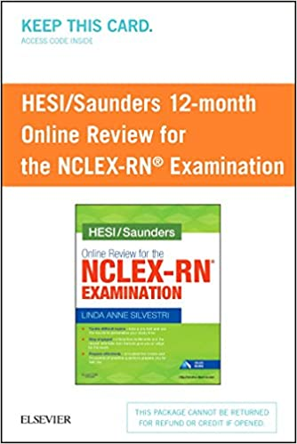 Hesisaunders online review for the nclex rn examination 1 year hesisaunders online review for the nclex rn examination 1 year access card 1e psc edition fandeluxe Choice Image
