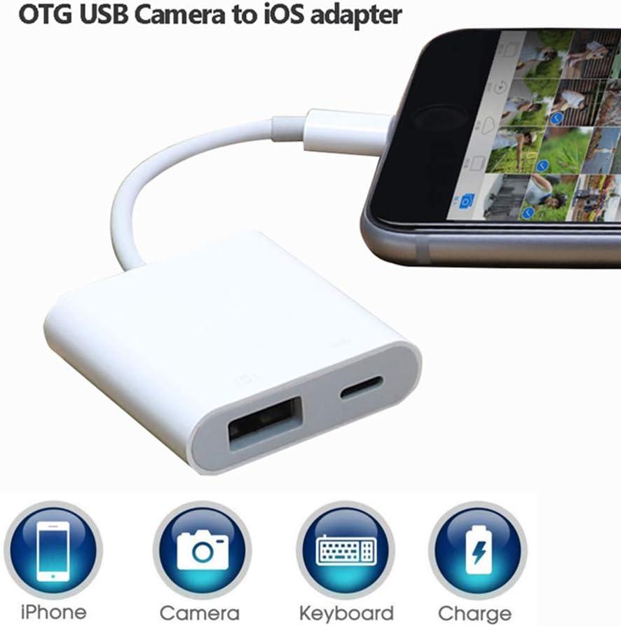 AISE Prise en Charge du connecteur de Piano /électrique iOS pour IPhone IPad C/âble Adaptateur IPod Convertisseur OTG Light-ning vers USB Camera Adapter